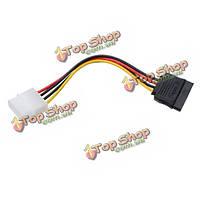 4-контактный Molex язь на 15-контактный интерфейс Serial ATA SATA адаптер питания кабель