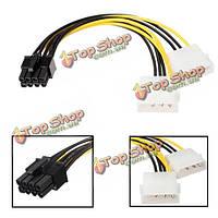 16см 5-дюймов 8 pin pci express мужчин двойной lp4 4pin molex ide адаптер питания кабель