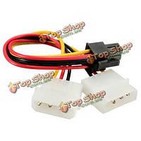 PCI-E видеокарты 6-контактный для 2x 3 булавки 5.25-дюймов адаптер HDD кабель питания свинца провод