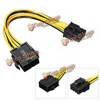 Мужской женский pci 8-штырьковый 8pin PCIe Экспресс удлинитель кабеля для видео карты