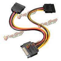 Переходник сплитер SATA гнездо адаптер питания HDD кабель для жесткого диска