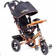 Детский трехколесный велосипед Lamborghini LР2O с фарой, коричневый