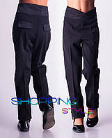 Школьные брюки  для девочек Мадонна (черные)