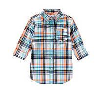 Рубашка поплиновая с длинным рукавом для мальчика Хлопок-поплин 100% Crazy8 (США)