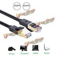 UGreen СТП cat7 экранированные 600МГц патч-кабель металлические разъемы RJ45 сетевой кабель локальных сетей