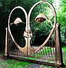 """Кованые ворота """"Сердце"""""""