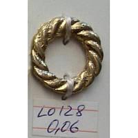 Кольцо косичка литое усиленное 14 мм (100 шт)