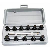 Комплект для откручивания масляных пробок, 12 предметов