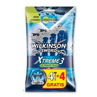Wilkinson Sword Xtreme 3 Ultimate Plus одноразовый мужской станок 4 + 4 шт