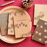 Ретро чистый дневник кармана альбома блокнота журнала ноутбука крафт-бумаги