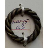 Кольцо косичка литое усиленное 25 мм (100 шт)
