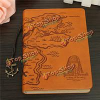 Классическая ретро кожа покрывает пиратский книжный ноутбук кармана журнала дневника диаграмм