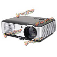 Ригаль-й-806 LCD HD 1080p LED портативный проектор 1280x800 2800 люменов HDMI VGA домашний кинотеатр ЕС Plug