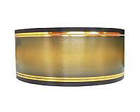 Лента флористическая траурная - №15 (7 см х 50 м) черная + золото