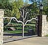 """Кованые откатные ворота """"Дерево"""""""