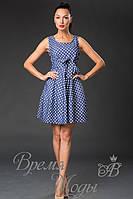 Летний короткий сарафан - платье. (6 расцветок) 3583 горох.