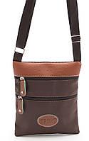 Коричневая небольшая мужская сумка  SPORT Б/Н art. Б/А , фото 1