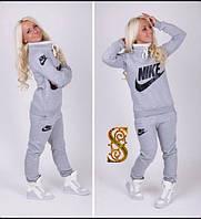 Батальный женский спортивный костюм Nike с начёсом