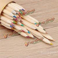 Природные 36 цветов деревянных судов бумаги картридж цветные карандаши рисования карандашами