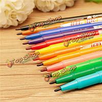12шт Двухсторонние перманентные маркеры искусство рисования маркером ручкой живопись