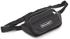 Удобная черная мужская сумка на пояс WALLABY art. 2907 Украина