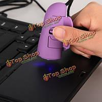 1200 точек на-дюйм Mini-USB 3D оптическая мышь палец кольцо ручной для портативных ПК