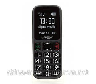 Телефон Sigma Comfort 50 mini 3 Grey-Black (бабушкофон) ''