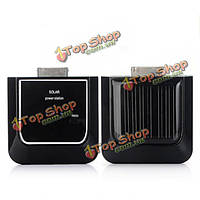 Черный солнечный портативный резервного питания для iPhone 4G 3g Ipod Nano касание