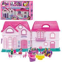 Кукольный домик с мебелью My Pleasant Home 16428, 4 куколки, звуковые, световые эффекты, возраст 3+