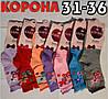 """Детские носки цветные для девочек демисезонные х/б """"Корона"""" 31-36 размер C3533 НДД-08215"""
