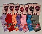 """Детские носки цветные для девочек демисезонные х/б """"Корона"""" 31-36 размер C3533 НДД-08215, фото 2"""