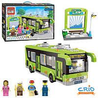 Конструктор BRICK 1121 серии Сити Автобусная остановка Автобус
