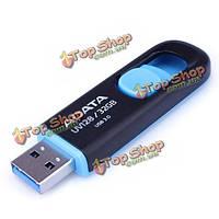 Компания ADATA uv128 USB3 на.0 флеш драйв U диск черный+синий