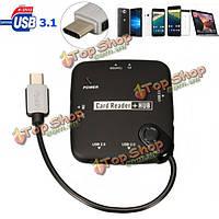 Тип С USB 3.0 7 в 1 USB 3.1 хост-адаптер чтения комплект для подключения карты OTG концентратор