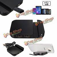 USB 2.0 4-портовый концентратор адаптер разветвитель универсальный настольный держатель телефона