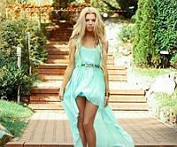 Женское шифоновое платья спереди короче чем сзади