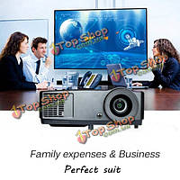 Rigal 809 DLP 1024x768 3000lm 3D 1080p HD бизнес-проектор для домашнего кинотеатра