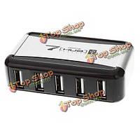 7 портов USB 2.0 хаб вертикальная стойка с 0.5mah 110 ~ 240В ac адаптер