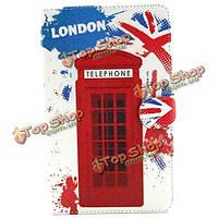 Телефонная будка шаблон Folio PU кожаный чехол для Samsung T700