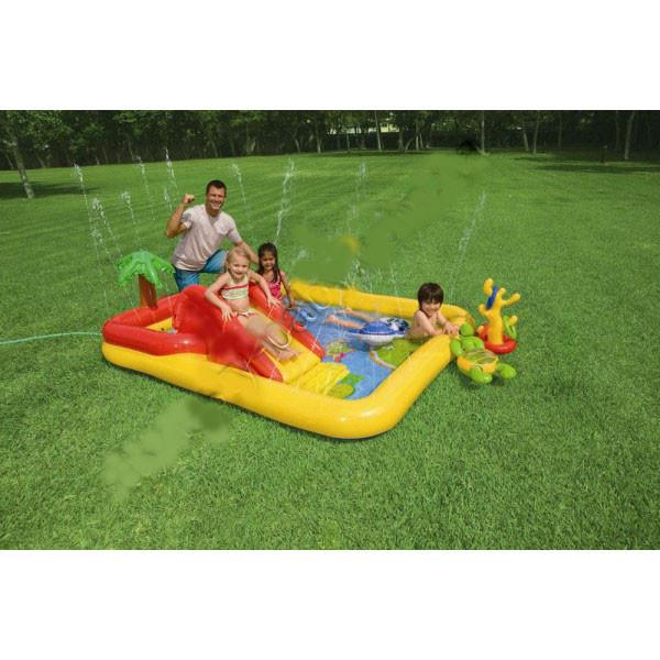 Детский надувной центр бассейн с горкой Аквапарк Intex 57454