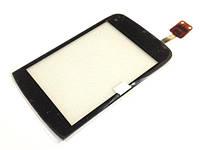 Тачскрин сенсор Nokia C2-02, C2-03, C2-06, C2-07, C2-08 черный с проклейкой