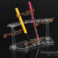 Прозрачный 6 слот пластиковый карандаш ручка ложки дисплей стенд держатель стойки
