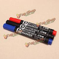Кафе deli 6881 маркер перманентный жирной ручкой красный черный синий