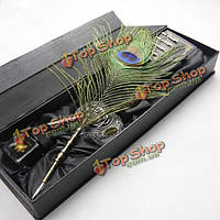 Ls806-г перьев павлина перо гусиное перо падение подарочный набор
