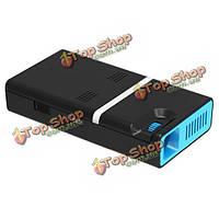 Lilpartner черный Mini беспроводная ДЛП LED портативный проектор Wi-Fi andriod4.4 Bluetooth 4.0 домашнего кинотеатра