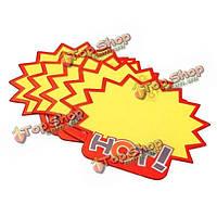 Маленький средний размер горячая форма взрыватель поп-рекламы этикеточная бумага ценник