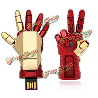16Гб рука железного человека USB Flash Drive Металлические U диск