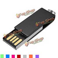 32г Mini поворотный флэш-накопитель с интерфейсом USB 2.0 металлическая ручка-памяти U диск
