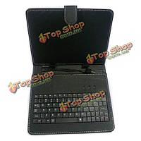 USB-клавиатура кожаный чехол сумка кронштейн с подставкой для 9-дюймов планшетный ПК