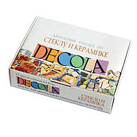 Набор акриловых красок по стеклу и керамике DECOLA, 12 цв. по 20 мл